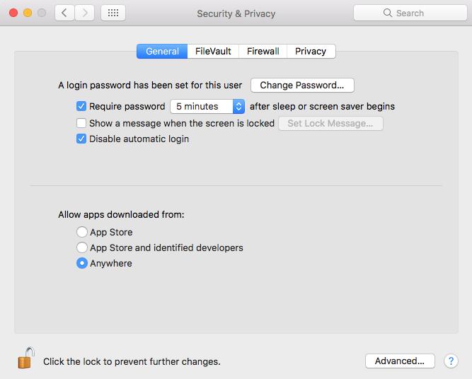 allow-apps-nedladdade från var som helst