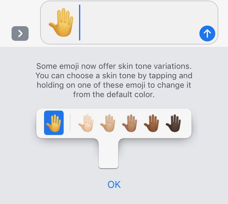 How we use skin tone in iMessages and Facebook Messenger