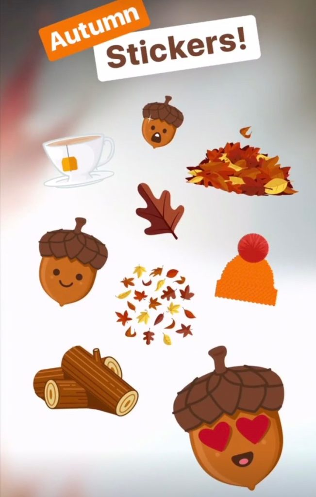 Image result for instagram fall stickers