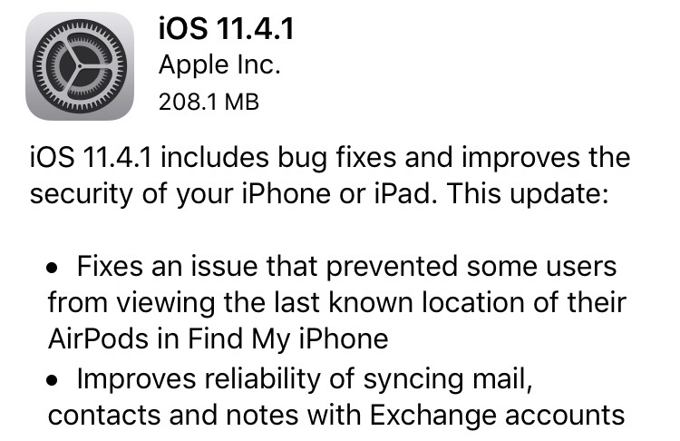 Update iPhone Software - iOS 11 4 1 (USB Restricted Mode