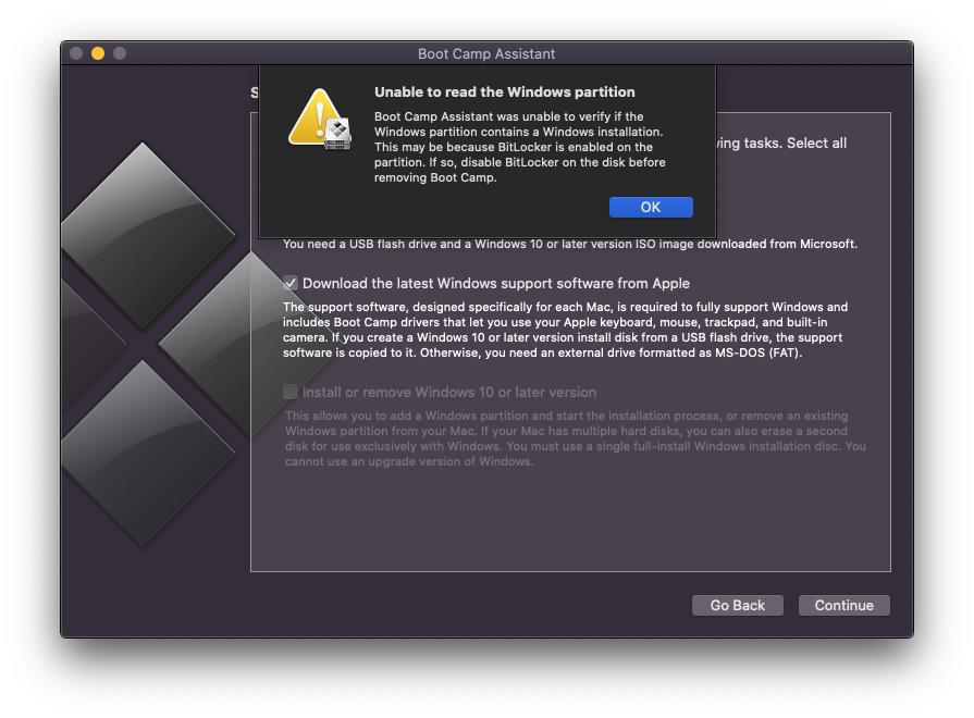 Error delete partition