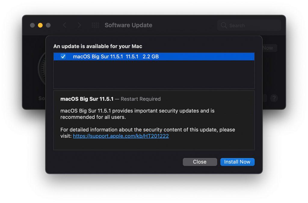 macOS Big Sur 11.5.1 Update
